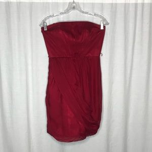NEW Laundry by Shelli Segal Red Silk Dress 2